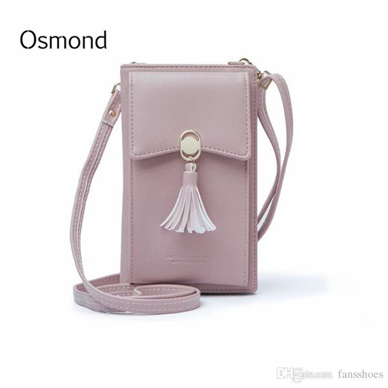 591e14b42f Acquista Osmond Piccola Borsa A Mano In Pelle Mini Borse Crossbody Le Donne  Rosa Borse A Tracolla Femminile Borsa Borsa Telefono Frizione Bolsa  Feminina ...