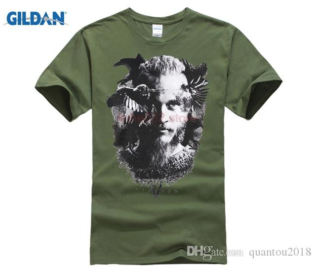 8d4b8794 Mens Official Vikings TV Series Odin's Raven T Shirt Heather Grey Men  T-Shirt Short Sleeve Round Neck Men O-Neck