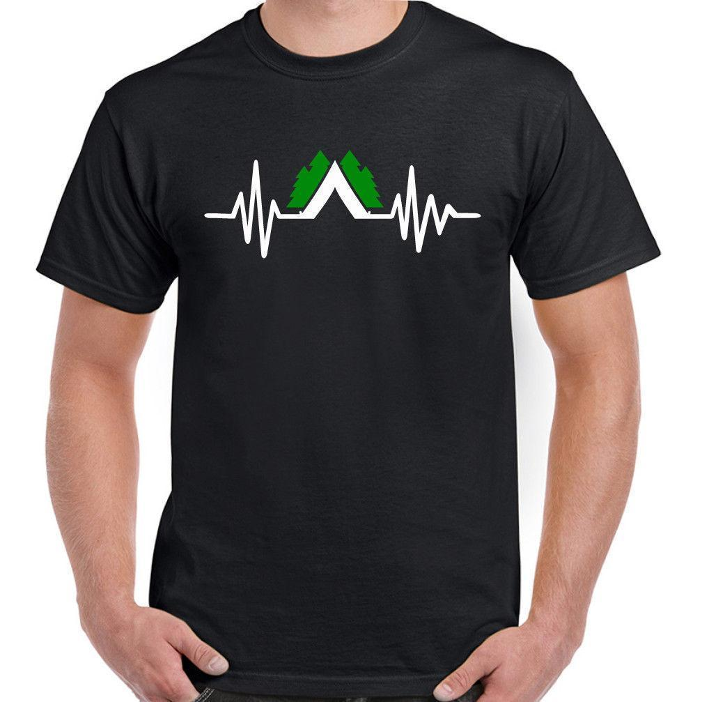 6c20a7f0db Camper Heart Beat Mens Funny Camping T Shirt Tent Festival Outdoors  Equipment Crazy T Shirts Online Cool Looking T Shirts From Jie038, $14.67|  DHgate.Com