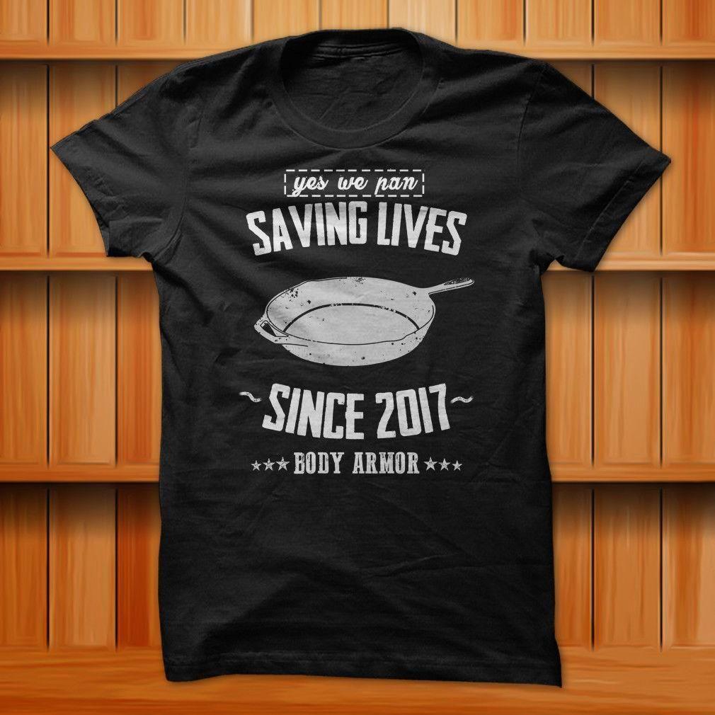Pubg pan saving lives since 2017 meme funny t shirt black 100 cotton s xl size denim shirts design t shirts from peng008 12 08 dhgate com