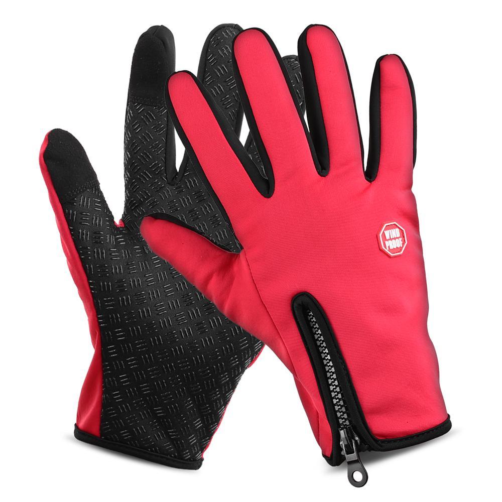Men Women Winter Thermal Touch Screen Gloves Outdoor Sport Ski Gloves Waterproof Outdoor Sport Tactical Skiing Mittens Apparel Accessories