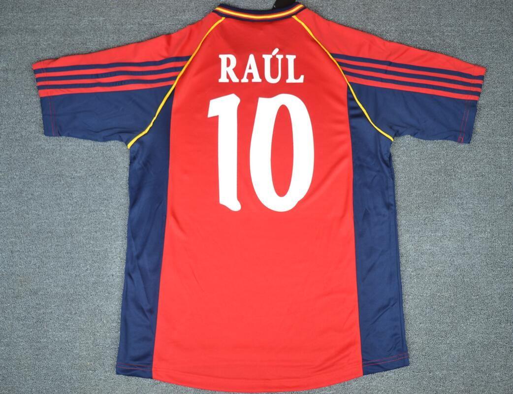 558a8c788 2019 1998 Spain Soccer Jerseys World Cup RAUL Xavi Puyol Torres .