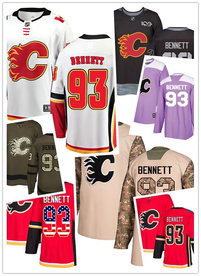 Compre Sam Hockey Calgary Jersey Bennett Camisetas Flame 93 Aq8CAzw