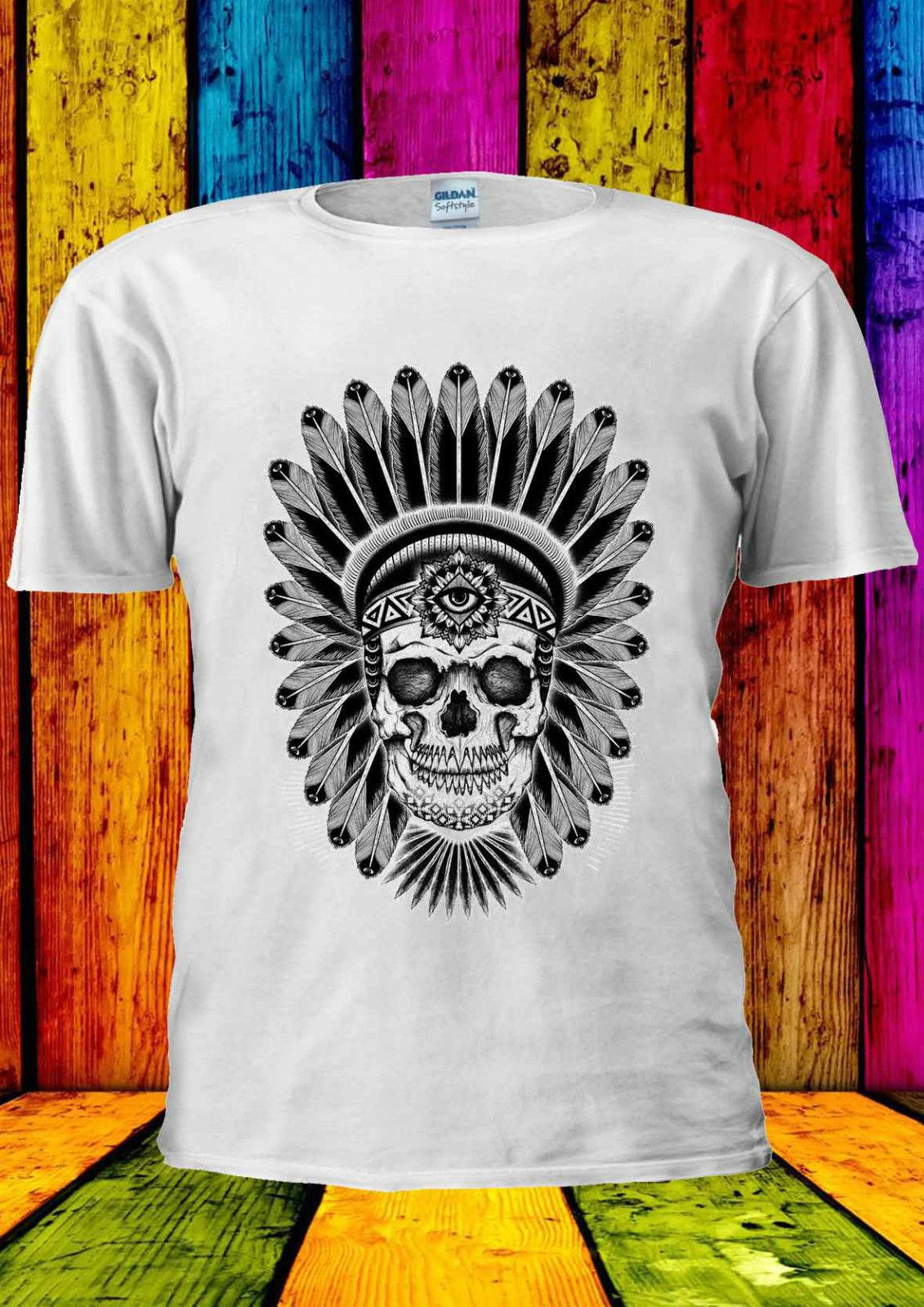 fafa0a51 Indian Skull Skeleton Cool Indie T Shirt Vest Tank Top Men Women Unisex  1136 Funny Casual Tshirt Top Online Funky T Shirts Buy T Shirt Design From  ...