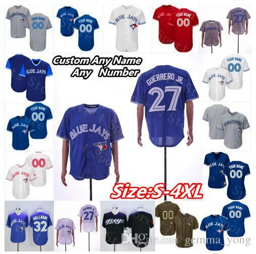 d4f700f5 2019 Blue Jays 27 Vladimir Guerrero Jr.Marcus Stroman Jerseys Toronto  Halladay Lourdes Gurriel Jr. Joe Carter Justin Smoak Pilar Men Women Kids  From ...
