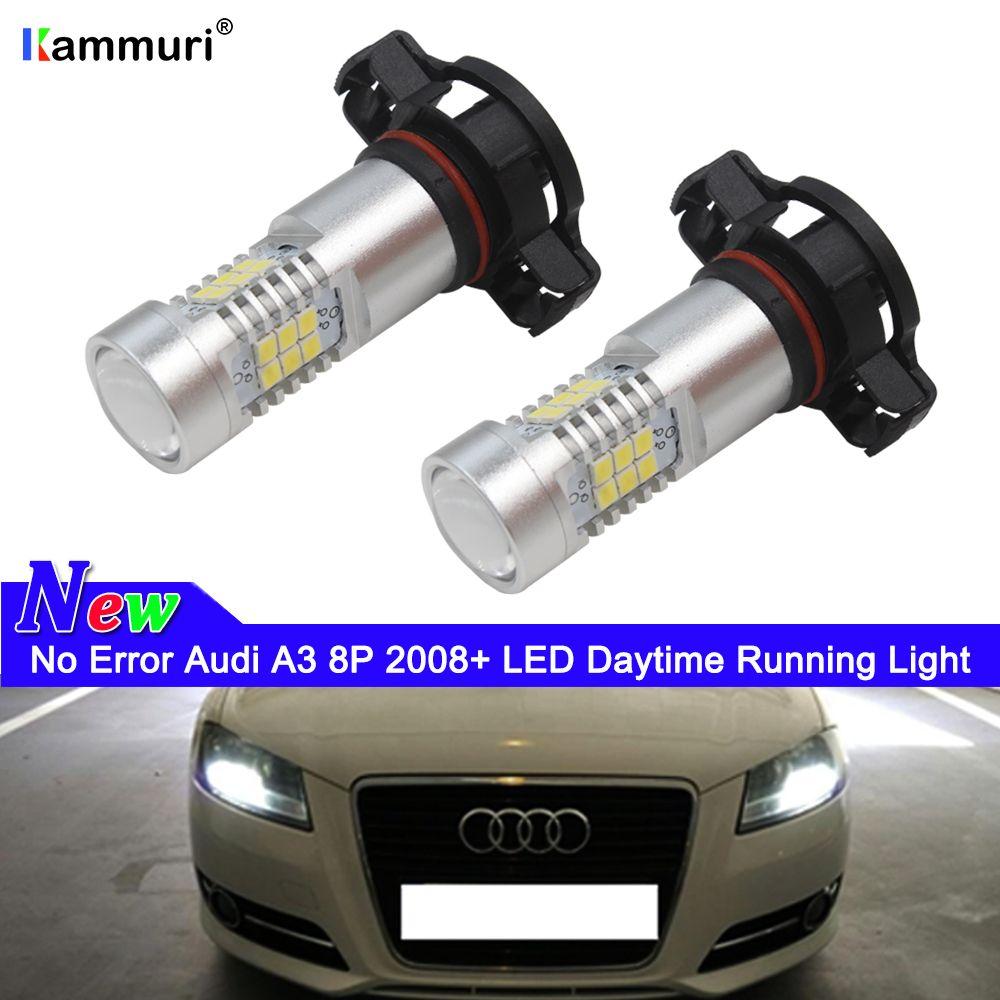 Feux 2pcs Erreur Pour 2008 Blanc H16 6000k Ampoules Audi 5202 A3 Day Light Aucune Ps19w Jour 8p De Led Drl Yb76vfyIg