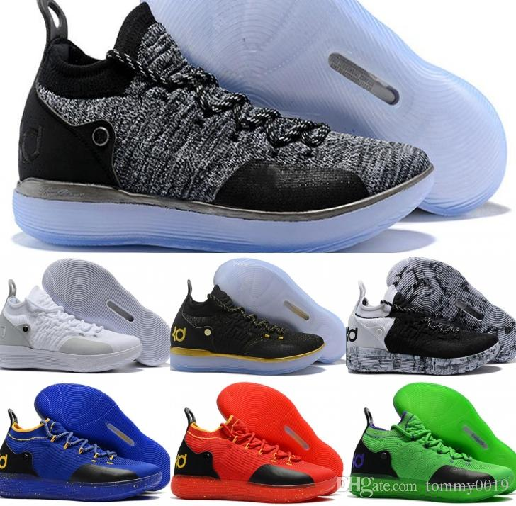 715a5189f7ae 2019 2019 New Basketball Shoes 11 KD Black Grey Persian Violet Chlorine  Blue Sneakers Kevin Durant 11s Mens Running Trainers Shoes Drop Shipping  From ...
