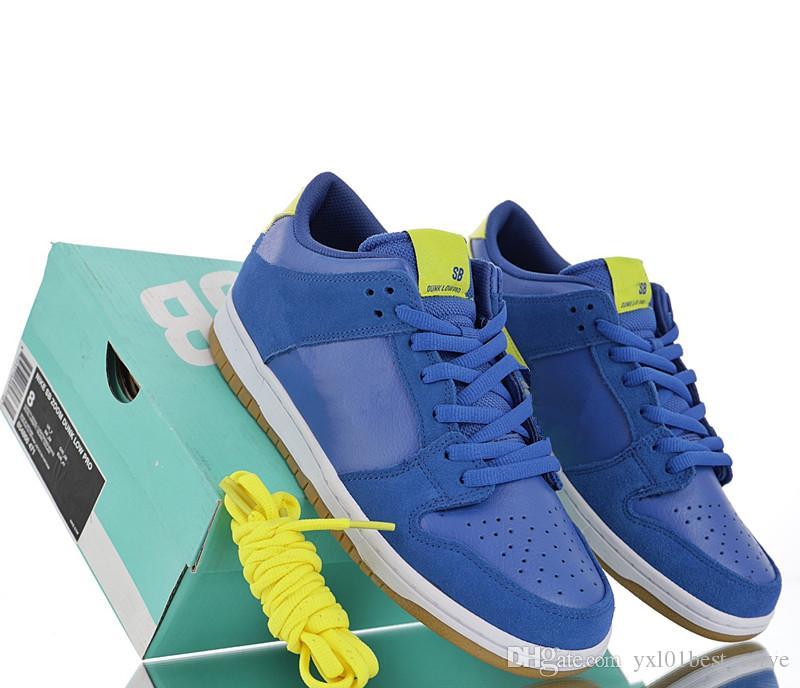 wholesale dealer 45d76 7d414 Acheter 2019 Vente Chaude SB Dunk Pro Bas Boca Juniors Sports Chaussures De  Course Pour Haute Qualité Bleu Jaune Hommes Formateurs Jogging Baskets De  ...