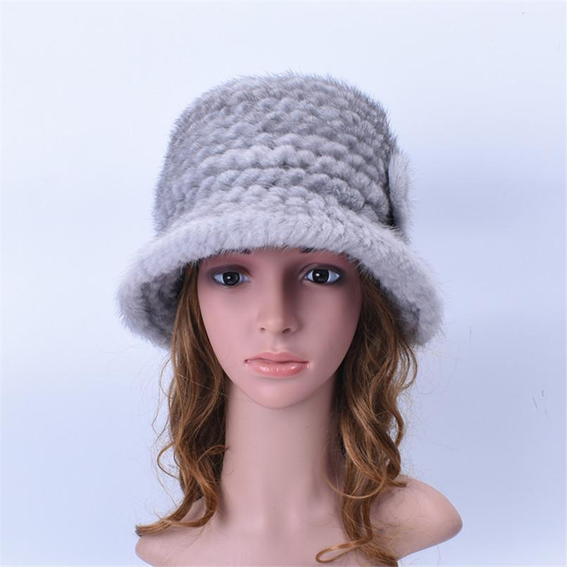 2019 Winter Real Hats Ladies Hats Brim Hat White Hat Fedora Woman Vintage Womens  Knitted Warm Fur Caps H218 From Nylonshan 4d04d1f13ef