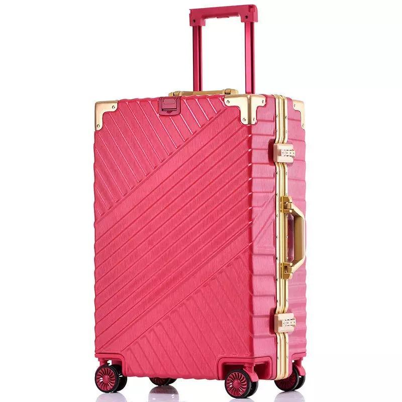 64543cab7 Retro Aluminum Frame Trolley Box Universal Wheel Trolley Suitcase Malas De  Viagem Men Vs Women 20 Inch Boarding Box Luggage Bag Childs Suitcase Dakine  ...