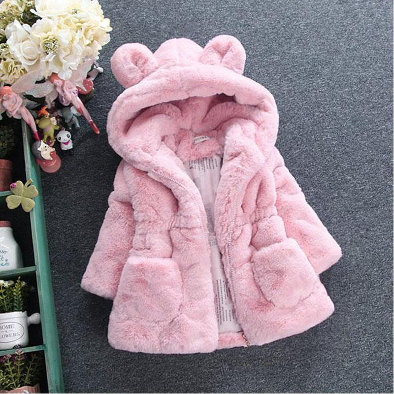 942b247b1102 New Winter Baby Girls Clothes Faux Fur Fleece Coat Pageant Warm ...
