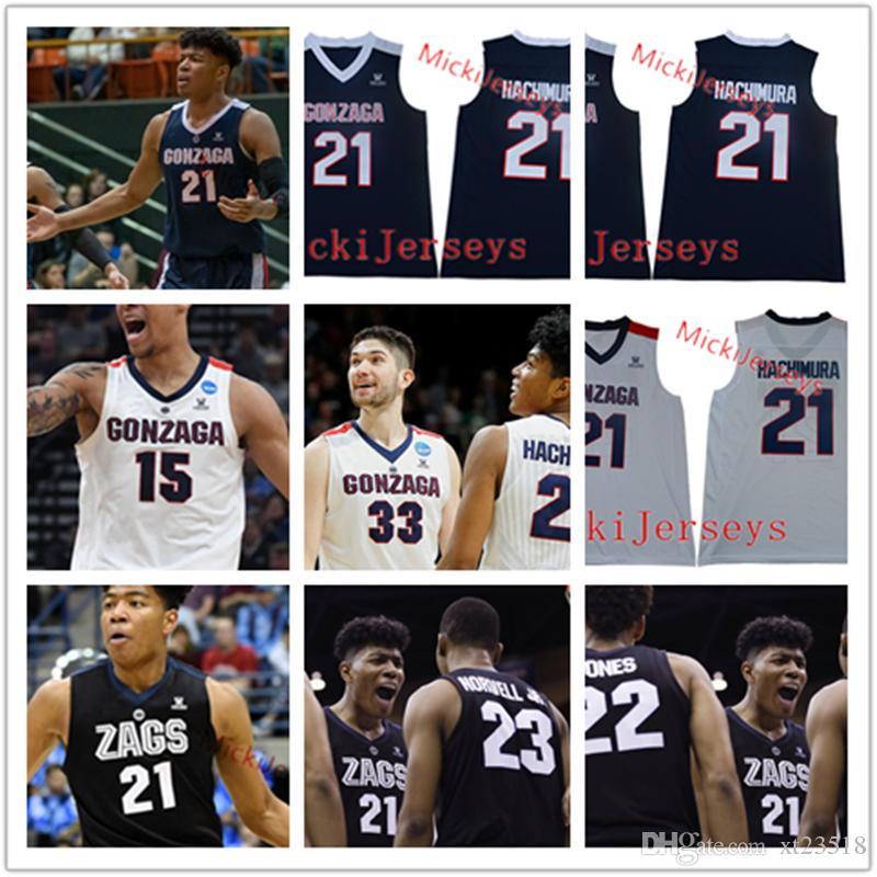 af5207aa7f03 2019 Custom Gonzaga Bulldogs Basketball Jersey Josh Perkins Brandon Clarke  Killian Tillie Rui Hachimura Zach Norvell Filip Petrusev ZAGS Jersey From  Xt23518 ...