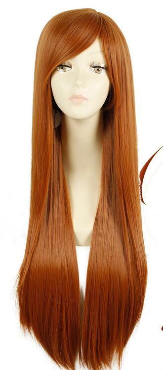 Wolf Holo Raphtalia Cosplay Wig Orange Long Straight Hair Women