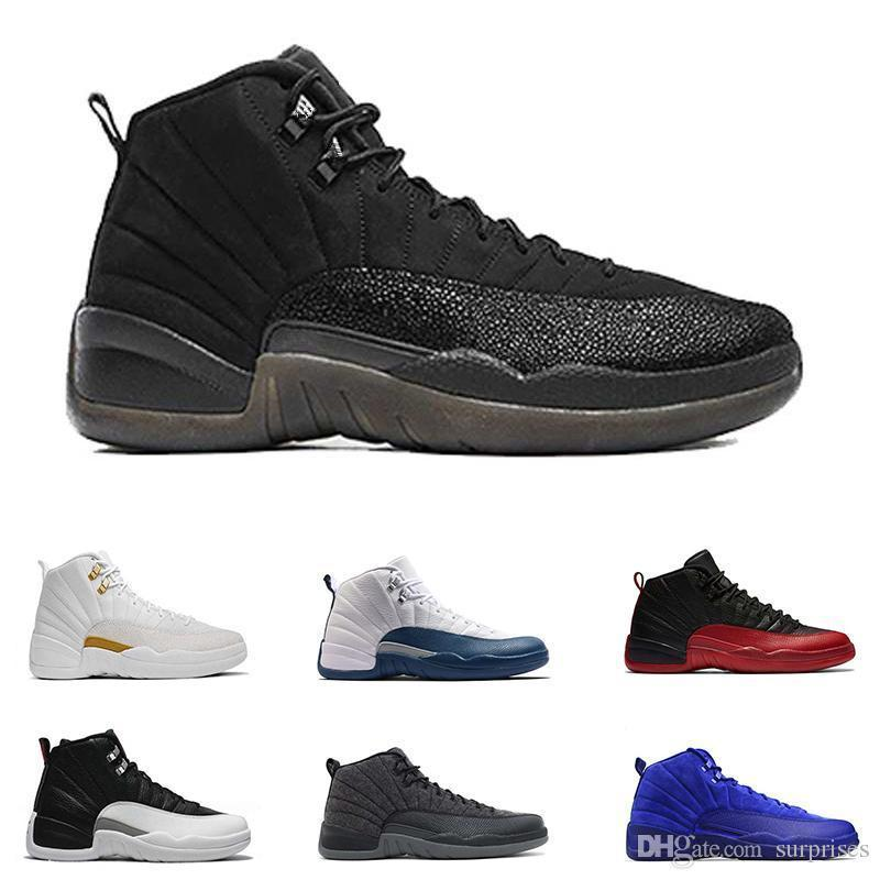 12 Mens Basketball Shoes 12s Taxi Playoff Black Flu Game Cherry 12s Xii Men Sneakers Free Shipping