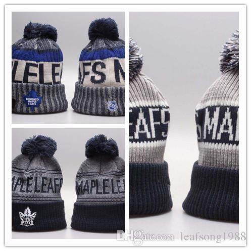 fbe62f2fb88 Toronto Maple Leafs Ice Hockey Knit Beanies Embroidery Adjustable ...