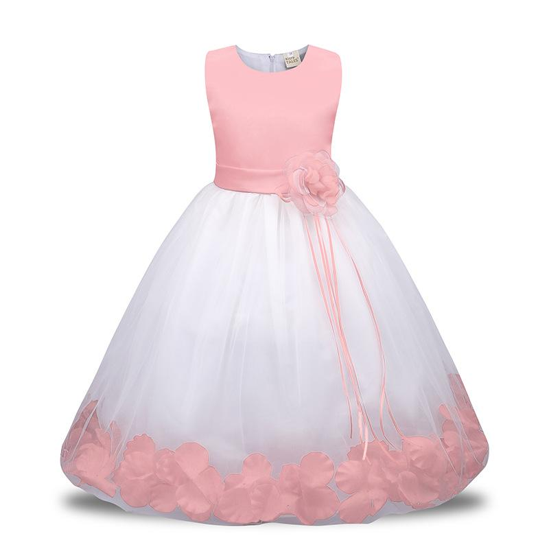 13312cbe7 Bebé niña de las flores Trajes de niños para niños Fiesta Princesa Vestidos  de novia Ropa de niñas para niña Adolescente Vestido de noche Falda ...