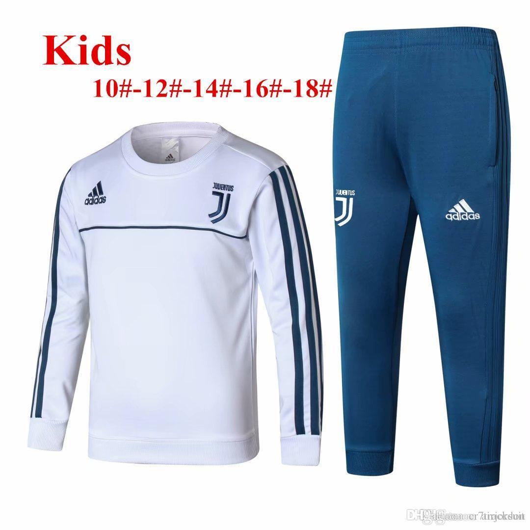 904b41b0f 2019 DHL 18 19 Season Juventus Child Training Suit 2018 2019 White DYBALA  Boys Soccer Jerseys Ronaldo Black Kids Tracksuit From Brandpolos
