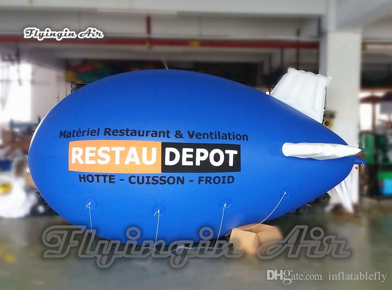 Customized Advertising Inflatable Helium Blimp 4m/5m/6m Long Floating Space Ship Balloon For Outdoor Event