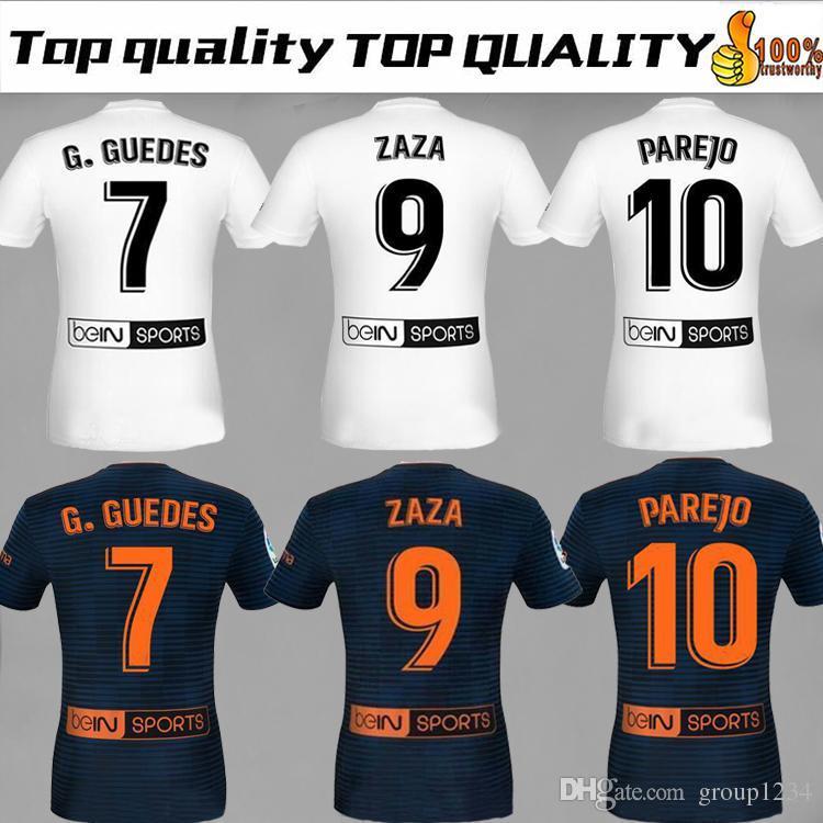 big sale ce4bd 4ef47 2018 FUTBAL Camisa Valencia Home Soccer Jerseys 18 19 Chandal Valencia  Jersey Valencia CF ZAZA Gaya Kondogbia C.Soler Parejo Kit Shirts
