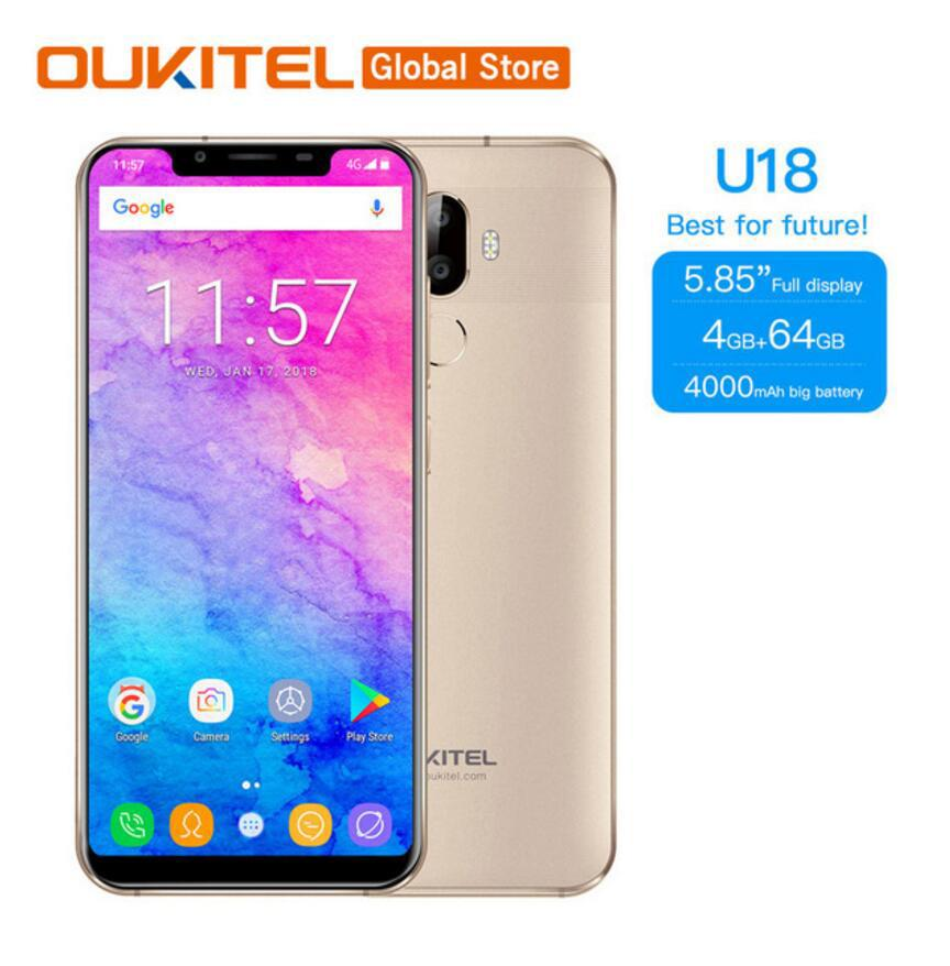aa1e9599889 Best Oukitel U18 21 9 Display 5.85 Mobile Phone MT6750T Octa Core 4G RAM  64G ROM 13MP+16MP Camera 4000mAh 4G Fingerprint Smartphone Newest Android  Phones ...