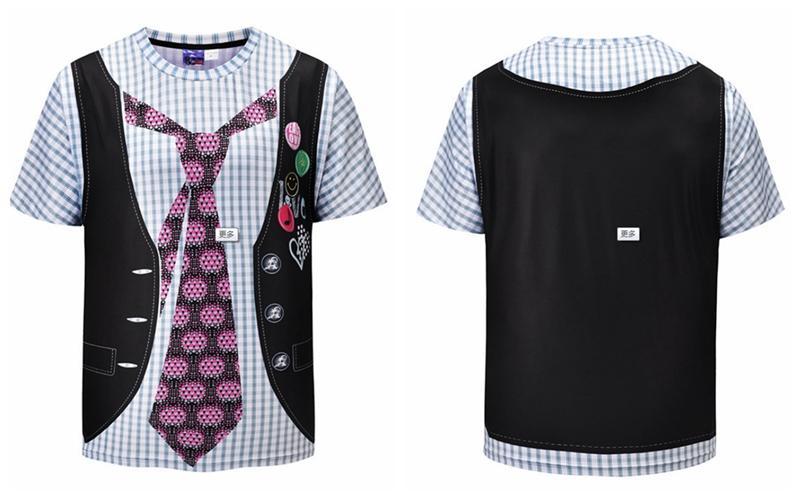 Dos Impresión Moda Chalecos Mujer Hombre Compre Falso 3d Camiseta qOSwcI