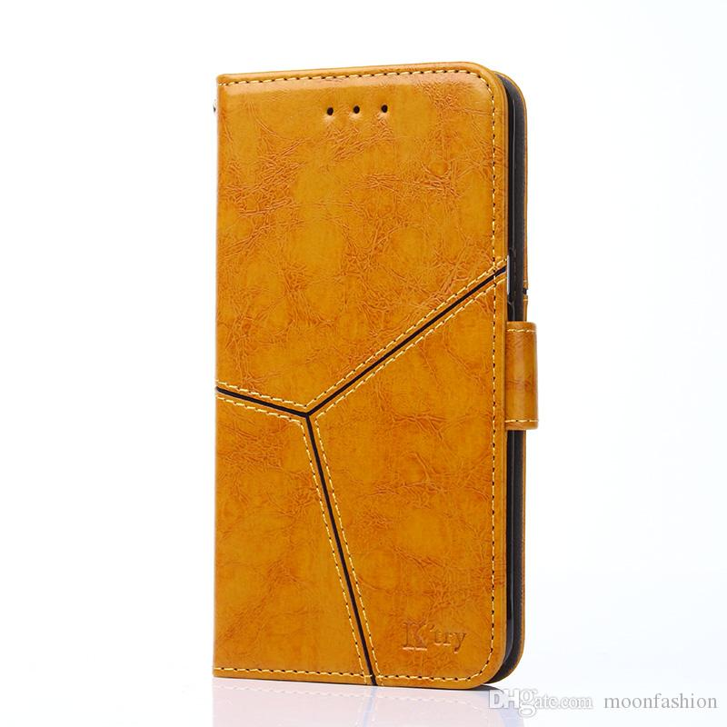 High quality fashion leather phone case for iphone 6 6S 7 8 Plus X XS XR XS Max flip wallet cover