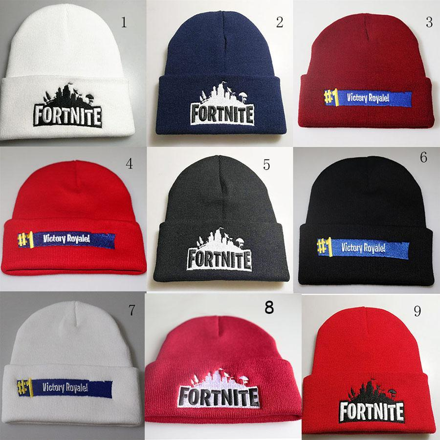 674c0819136b3 2019 Fortnite Battle Knitted Hat Hip Hop Embroidery Knitted Costume Cap  Winter Soft Warm Girls Boys Skuilles Beanies From Sintent