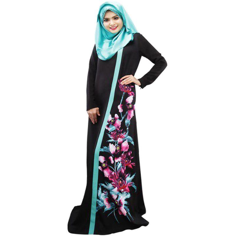 2019 Middle East Turkish Muslim Women Dubai Abaya Dress Islamic Jilbab And Abayas  Clothing Robe Musulmane Print Vestidos Longos Dresses From H1577750539 c1d130e32b64