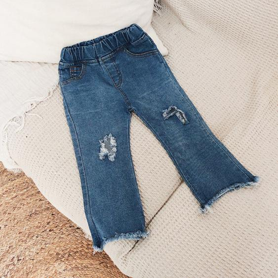 4a4f58ef WNLEIGEL Girls Fashion Autumn Holes Jeans Kids All Match Denim Blue Ripped  Jean Baby Casual New Style Trousers Children Clothes Boys Size 16 Jeans  Jeans On ...