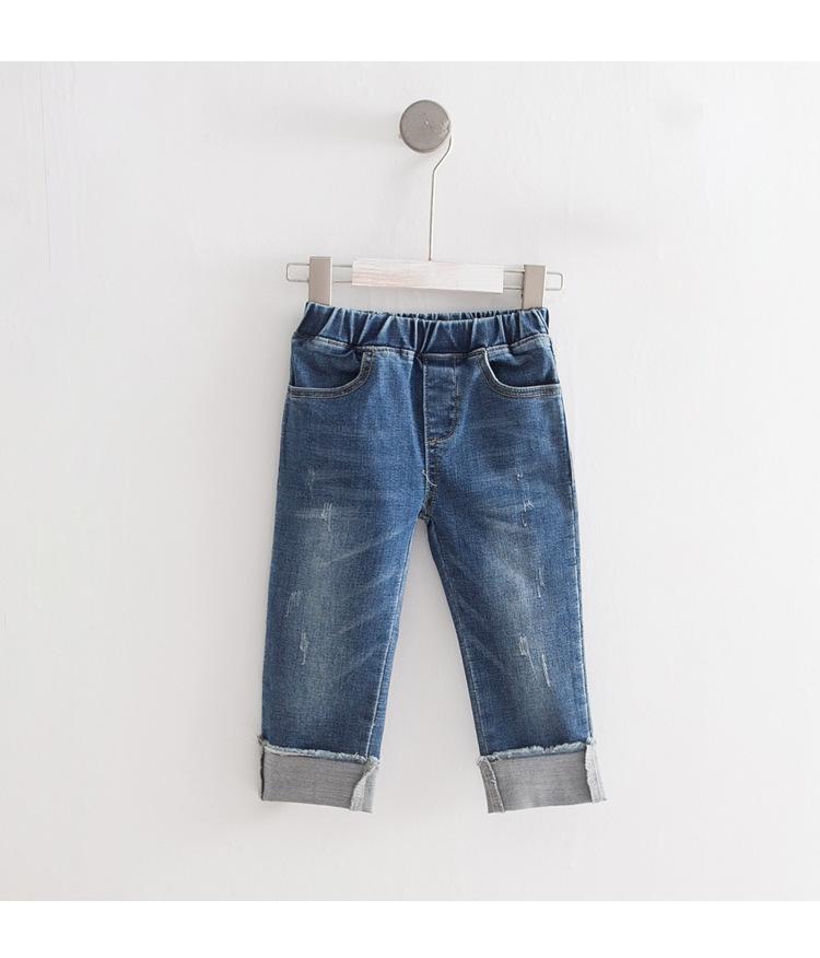 815005129 Compre WLG Niños Niñas Suave Primavera Otoño Jeans Niños Denim Azul Ripped  Moda Pantalones Bebé Causal Regular Jeans Niños Ropa 2 7T A  43.68 Del ...