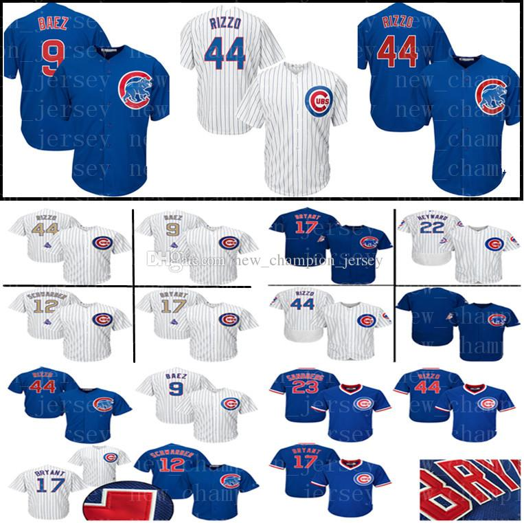 0628f5ae054 ... 2018 mens chicago jersey cubs 44 anthony rizzo 17 kris bryant 9 javier  baez 12 kyle