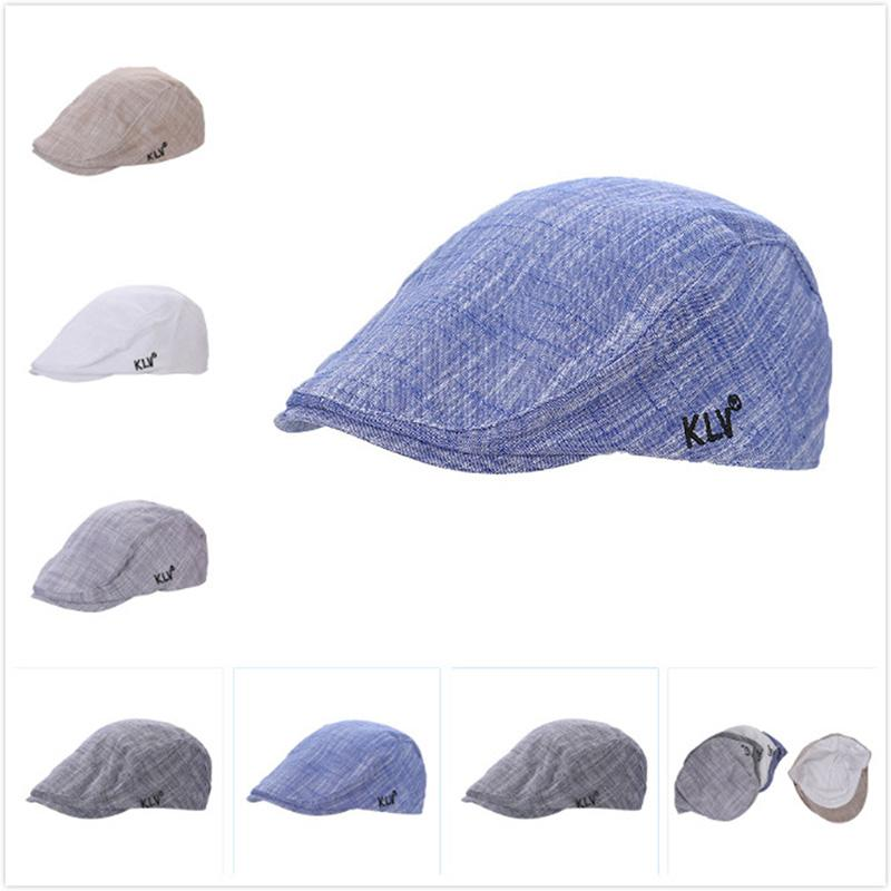 93cf846f1c80d 2018 Autumn Winter Men Cap Hats Berets British Western Style Cotton ...