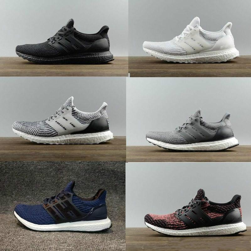 43723d814 HOT Sale 2018 High Quality Ultraboost 3.0 4.0 Uncaged Designer Men Women  Ultra Boost III Primeknit White Athletic Shoes Size 36 47 Sneakers Online  Deck ...