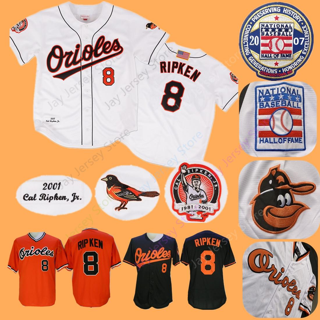 77470301daf 2019 Cal Ripken Jersey Cooperstown Orioles With 2007 Baseball Hall Of Fame  Patch Home Away 2001 Baltimore Jerseys From Morejersey
