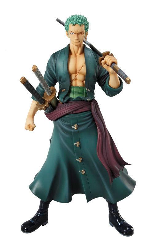 Huong Anime Figure 23CM One Piece POP Roronoa Zoro PVC Action Figure Toy Collectible Model Gift Doll T190912