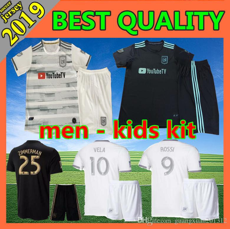 188eed23104 2019 Men Kids Kit 2019 LAFC Carlos Vela Soccer Jerseys 19 20 ZELAYA ROSSI  Los Angeles FC Black MLS Parley Primary WHITE Football Shirts From  Guangxuan201312 ...