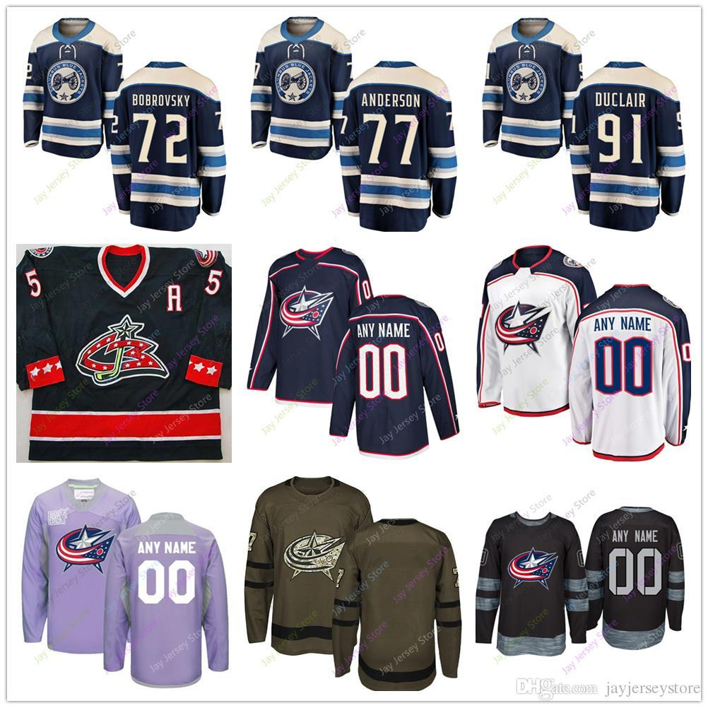 new concept 35443 14133 Sergei Bobrovsky Josh Anderson Anthony Duclair Jersey Winter Classic  Columbus Blue Jackets 2019 Men Women Youth Kid Cheap