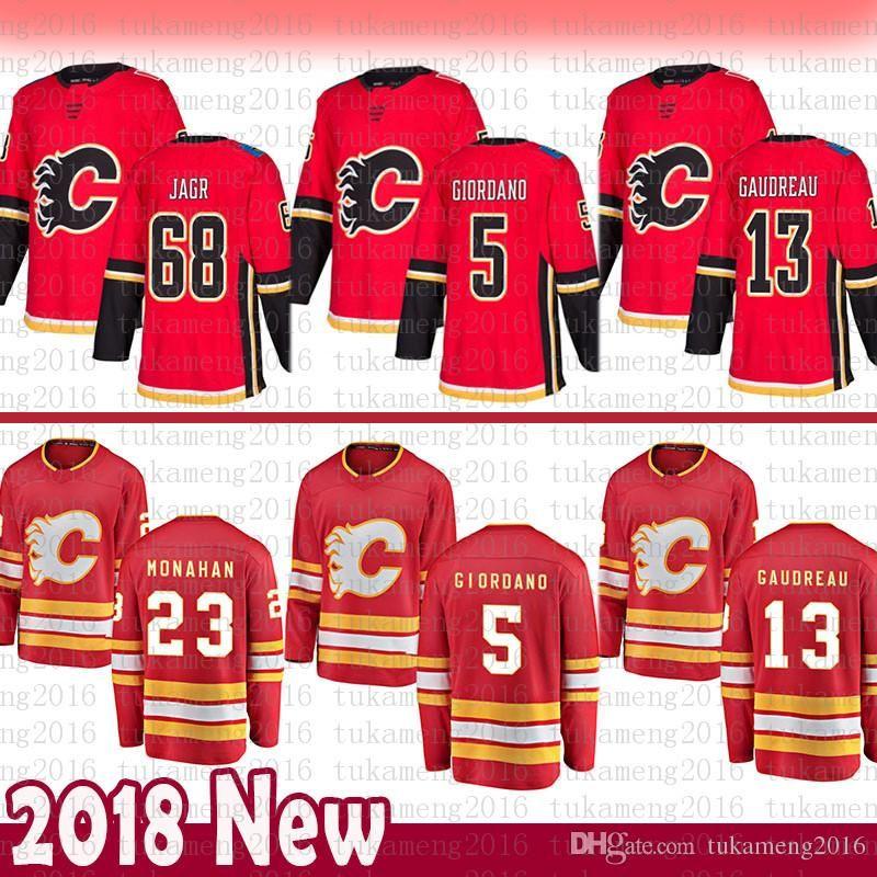 best sneakers eb0e3 9c209 cheap Calgary Flames 13 Johnny Gaudreau Hockey Jersey 5 Mark Giordano 23  Sean Monahan 68 Jaromir Jagr Jerseys