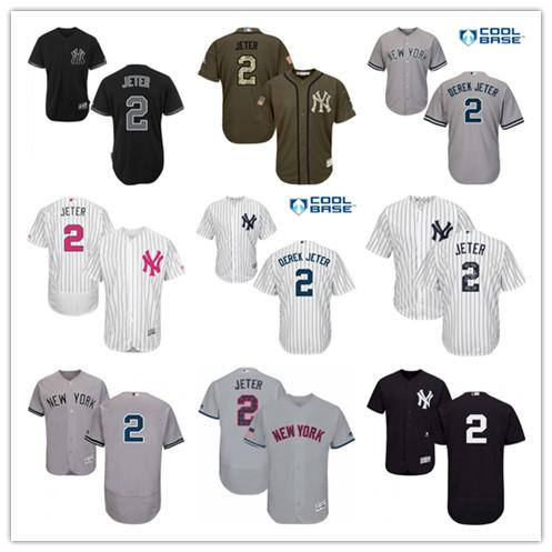 promo code 3a3be 2c84f custom Men s Women s Youth Majestic Yankees Jersey 2 Derek Jeter Detroit  Baseball Jerseys