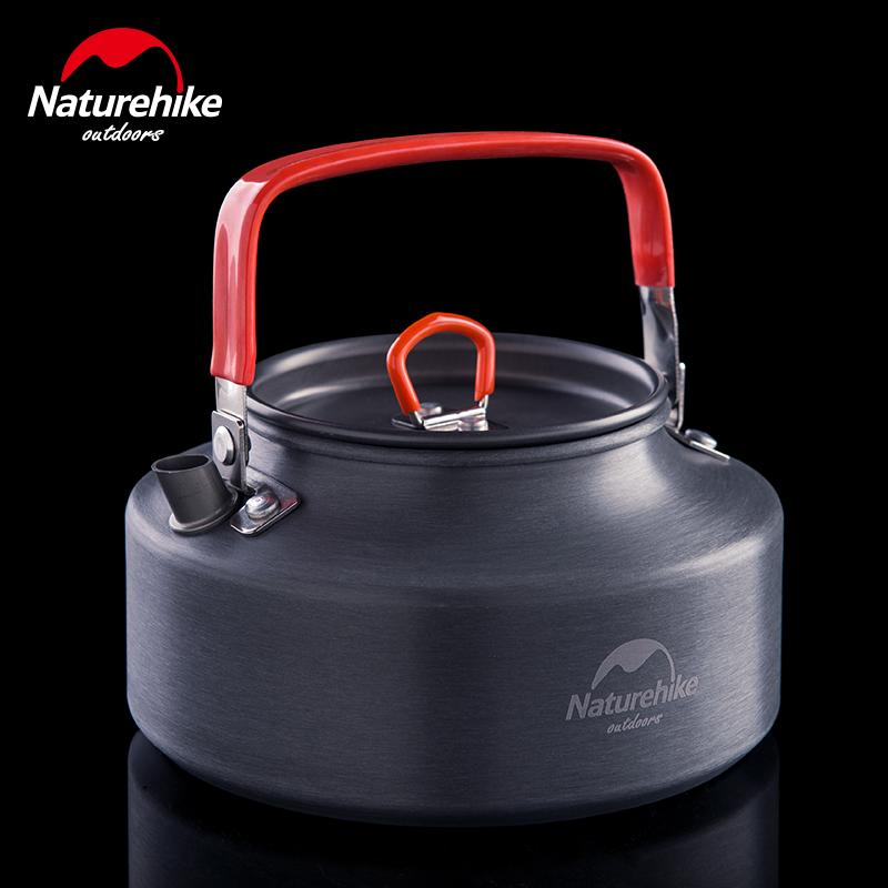 NatureHike 1.1 L Tableware Bowl Picnic Pot Camping Hiking Water Kettles Lightweight Cookware Aluminum Coffee Teapot