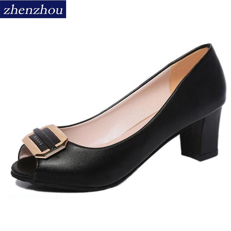 Dress Shoes Pumps 2019 The New Spring And Summer Fish-mouth Sandals For Women Metal Single Shoe Women's Shallow-mouth Heel