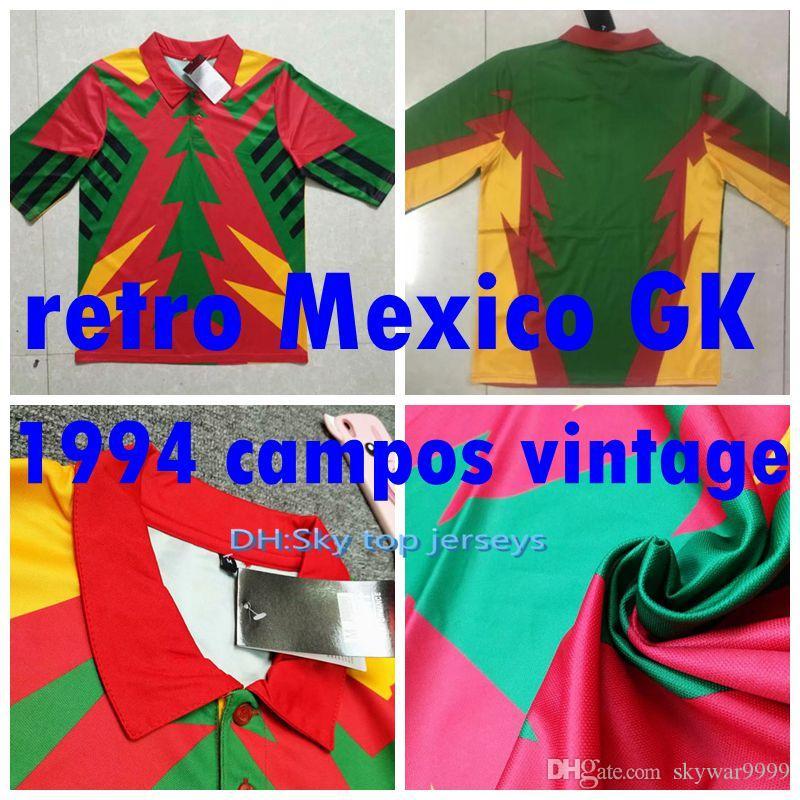 6a69d9508fc 2019 1994 Jorge Campos Jersey Seleccion Mexicana Mundial 94 Mexico  Goalkeeper Campos Soccer Jersey Retro Classic Vintage Football Shirts From  Skywar9999, ...