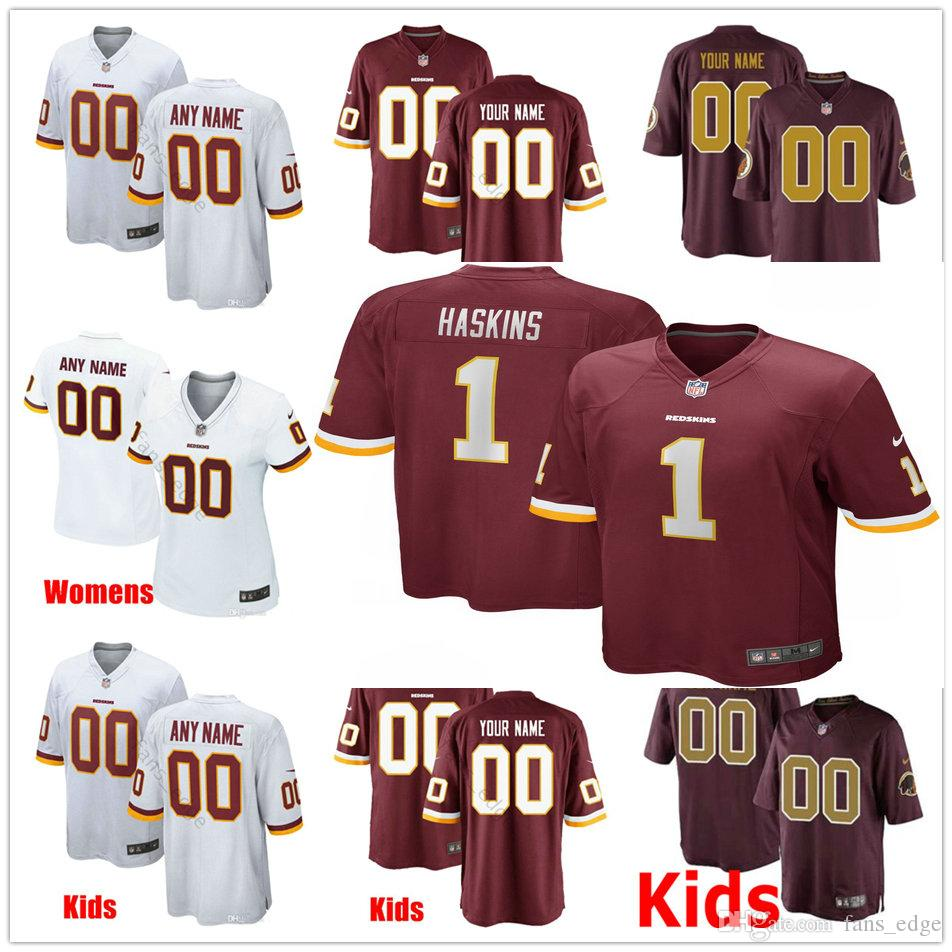 wholesale dealer b7f7d aac2e 2019 Draft First Round Pick Washington Dwayne Haskins Jersey Redskins Jr 7  Stitched White Red Men Women Youth Kids Football Jerseys