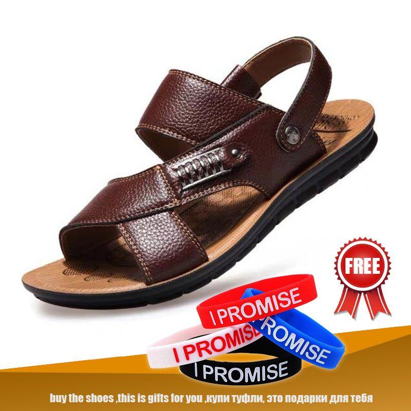 0e2276153 Compre Mut Mat Hombres Sandalias Nuevo Verano Playa Vacaciones Viajes  Hombres Zapatos Zapatos De Cuero Genuino Casual Tamaño Grande 38 A 48  Hombre A  47.8 ...