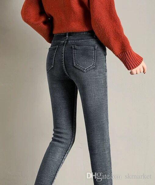 db379be19b Compre Pantalones Vaqueros Bordados De Moda Clásica Mujer Autum Nuevos  Pantalones Sueltos Y Delgados