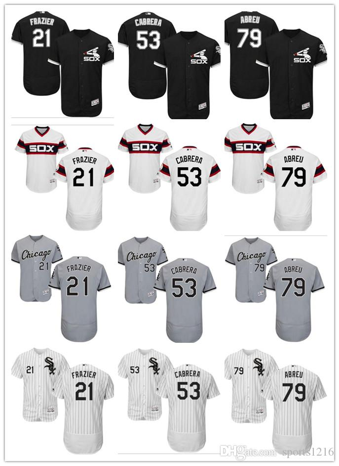 6104ab62 ... sweden 2018 custom mens women youth chicago white sox jersey 53 melky  cabrera 79 jose abreu