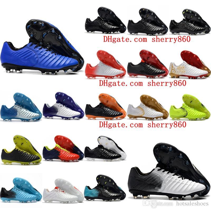 b5843ef05e336 Acquista 2019 Economici Tiempo Totti X Roma FG 2017 Tacchetti Da Calcio  Originali Tiempo Legend VII FG Scarpe Da Calcio Basse Superiori Mens Scarpe  Da ...