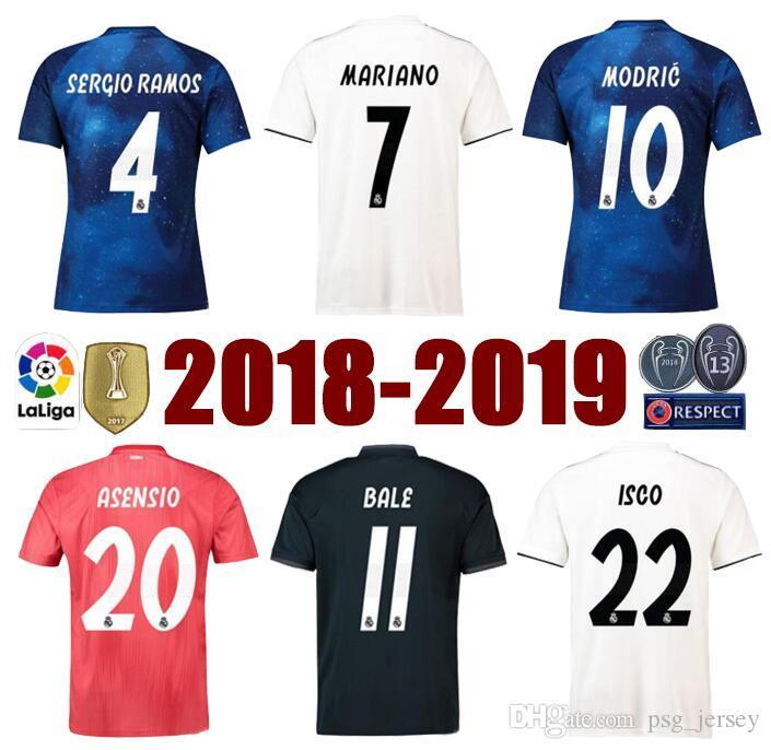 Top Tier S 3XL 18 19 Real Madrid Third Maillot Home Away MODRIC MARIANO  Soccer Jerseys ASENSIO VINICIUS Football Shirts AAA Fotbul UK 2019 From  Psg jersey e4ea8eed5