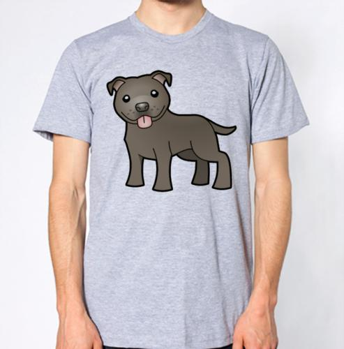 0843a8ae Staffordshire Bull Terrier Dog T Shirt Cartoon Puppy Top Funny Unisex  Casual Tshirts Funny T Shirts From Clothing_dealss, $12.96| DHgate.Com