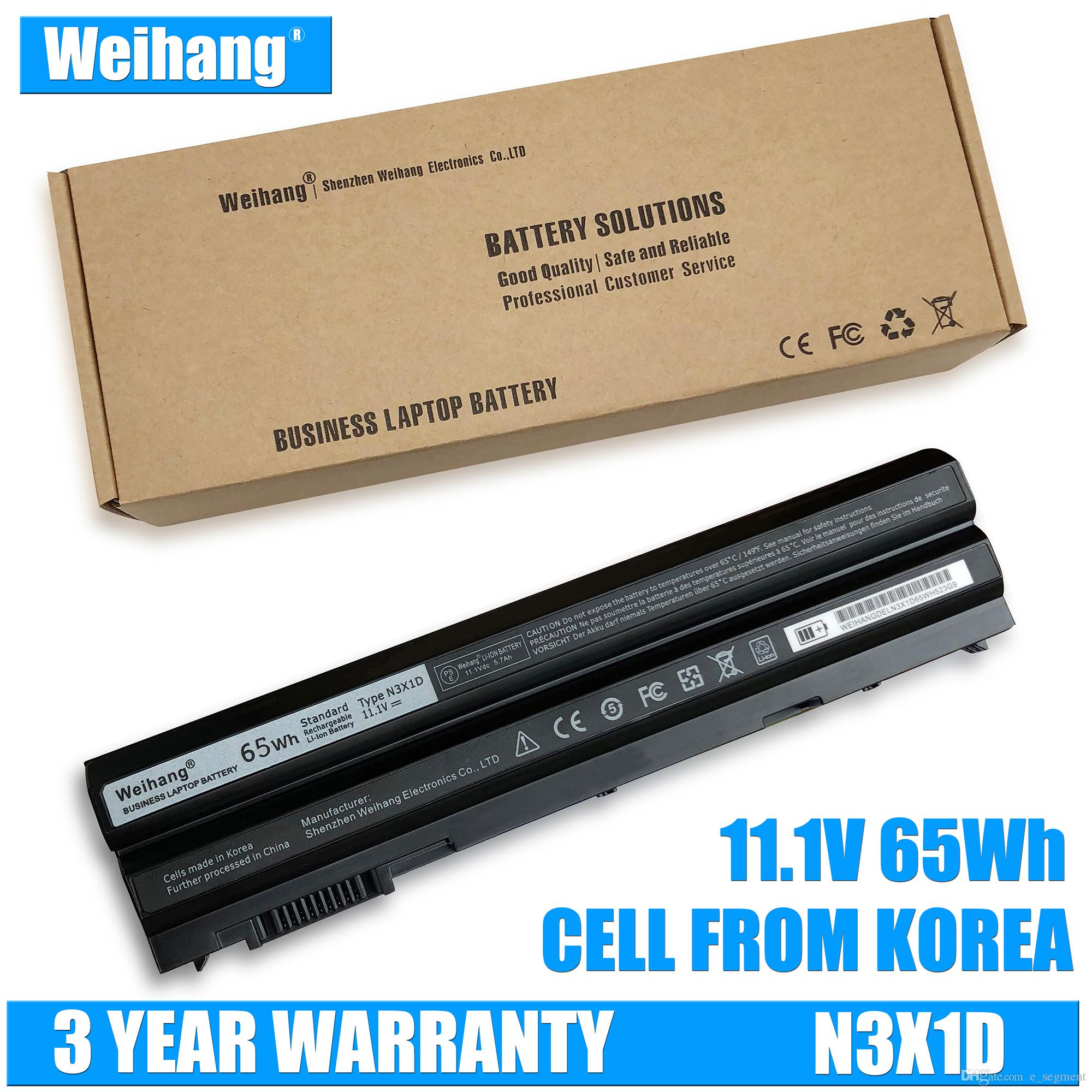 Korea Cell Weihang Battery For 65WH N3X1D Laptop Battery for DELL Latitude  E5420 E5430 E5520 E5530 E6420 E6520 E6430 E6440 E6530